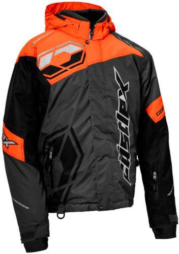 Castle X Code Snowmobile Jacket, Charcoal/ Orange/ Black Product image