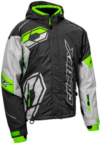 Castle X Code Snowmobile Jacket Hi-Vis, Charcoal/ Silver Product image