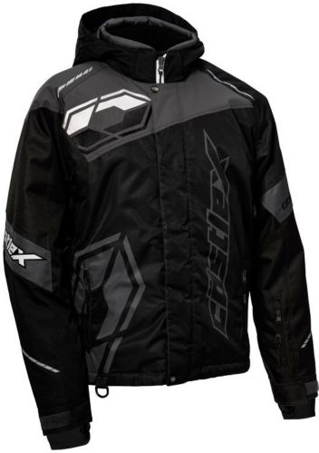Castle X Code Snowmobile Jacket, Black/ Charcoal/ White Product image