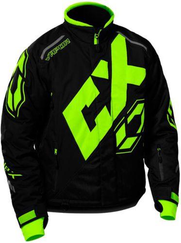 Castle X Vapor Snowmobile Jacket Hi-Vis, Black Product image