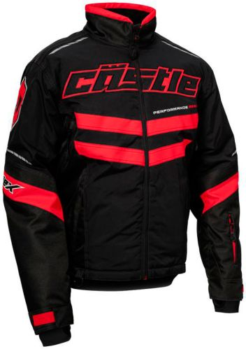 Castle X Strike Snowmobile Jacket, Black/ Red Product image