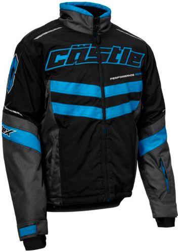 Castle X Strike Snowmobile Jacket, Black/ Blue Product image