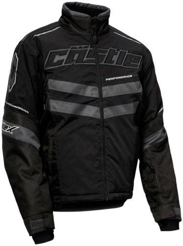 Castle X Strike Snowmobile Jacket, Black/ Charcoal Product image