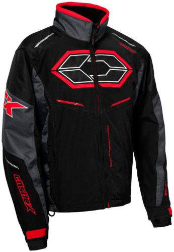 Castle X Blade G4 Snowmobile Jacket, Black/ Charcoal/ Red Product image