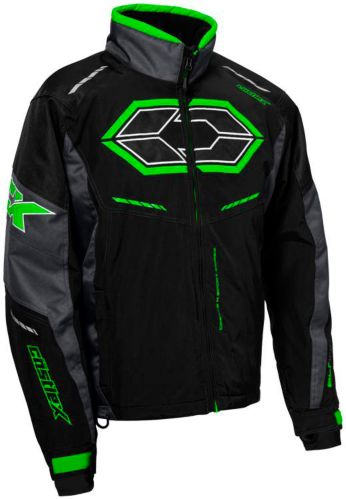 Castle X Blade G4 Snowmobile Jacket, Black/ Charcoal/ Green Product image