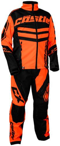 Castle X R20 Race Snowmobile Jacket, Orange/ Black Product image
