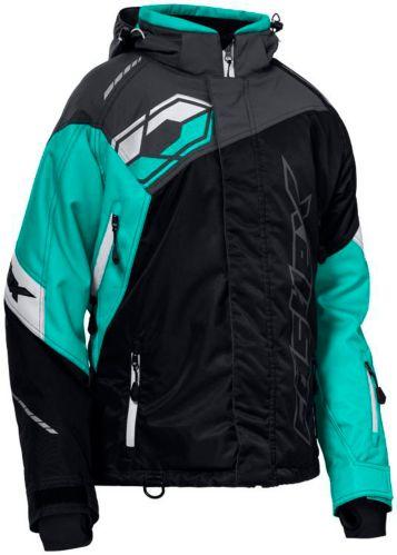 Castle X Women's Code Snowmobile Jacket, Black/ Mint/ Charcoal Product image