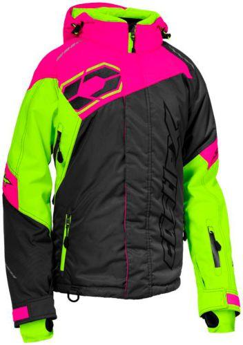 Castle X Women's Code Snowmobile Jacket Hi-Vis, Charcoal/ Pink Product image
