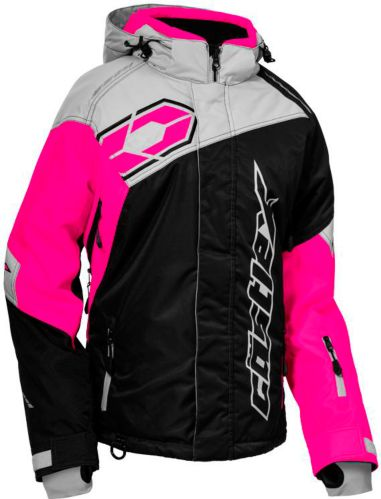Castle X Women's Code Snowmobile Jacket, Black/ Pink/ Silver Product image