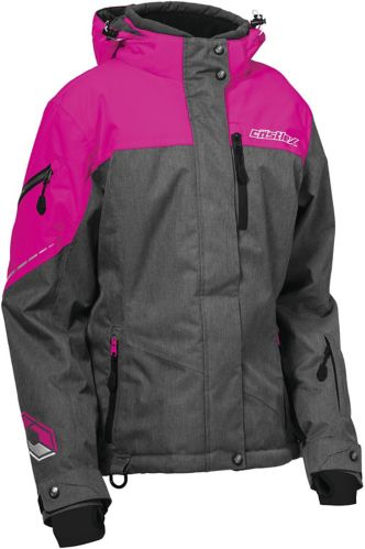 Castle X Women's Powder G2 Snowmobile Jacket, Grey/ Pink Product image