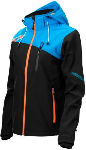 Castle X Women's Barrier G2 Snowmobile Jacket, Black/ Blue/ Orange Product image