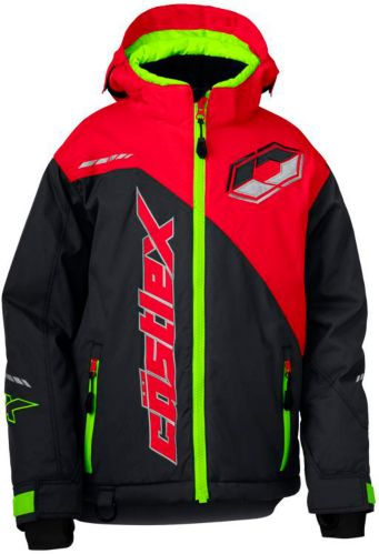 Manteau de motoneige Castle X Stance G2, jeunes, anthracite/rouge Image de l'article