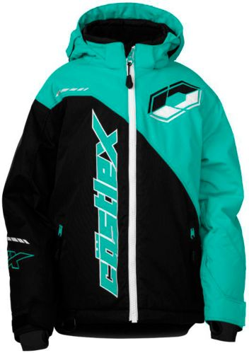 Castle X Youth Stance G2 Snowmobile Jacket, Black/ Mint Product image