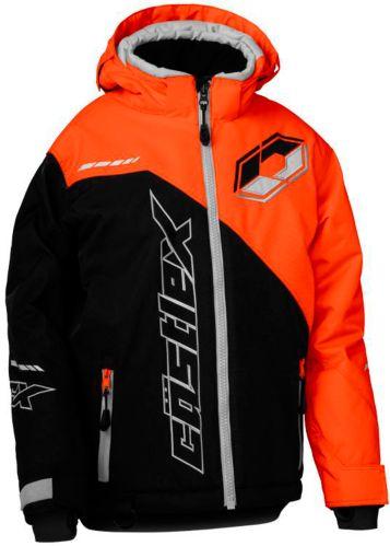 Manteau de motoneige Castle X Stance G2, jeunes, noir/orange Image de l'article