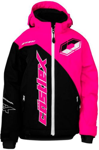 Castle X Youth Stance G2 Snowmobile Jacket, Black/ Pink Product image