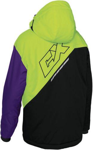 Manteau de motoneige Castle X Stance G2, jeunes, h.vis., raisin Image de l'article