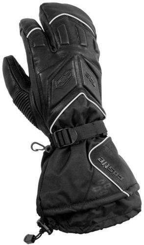 Castle X Women's TRS 3-Finger Snowmobile Mitts, Black Product image
