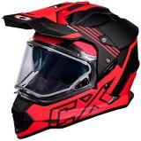 Castle X Mode Dual-Sport SV Agent Helmet, Red | Castle Xnull
