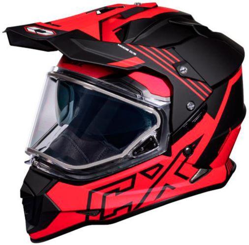 Castle X Mode Dual-Sport SV Agent Helmet, Red Product image