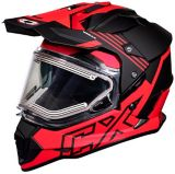 Castle X Mode Dual-Sport SV Agent Helmet with Electric Shield, Matte Red | Castle Xnull