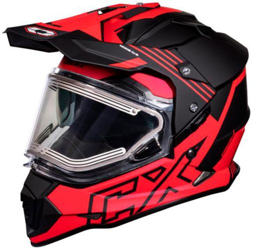 Castle X Mode Dual-Sport SV Agent Helmet with Electric Shield, Matte Red Product image