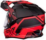 Casque Castle X Mode Dual-Sport SV Agent avec protecteur électrique, rouge mat | Castle Xnull