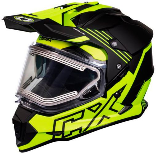 Castle X Mode Dual-Sport SV Agent Helmet with Electric Shield, Matte Hi-Vis Product image