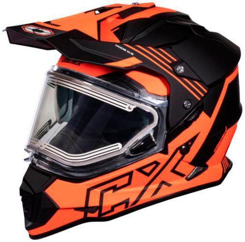 Castle X Mode Dual-Sport SV Agent Helmet with Electric Shield, Matte Orange Product image