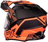 Castle X Mode Dual-Sport SV Agent Helmet with Electric Shield, Matte Orange | Castle Xnull
