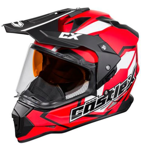 Castle X Mode Dual-Sport SV Team Helmet, Red Product image