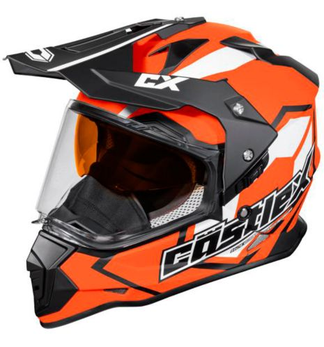Castle X Mode Dual-Sport SV Team Helmet, Matte Orange Product image