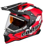 Castle X Mode Dual-Sport SV Team Helmet with Electric Shield, Matte Red | Castle Xnull