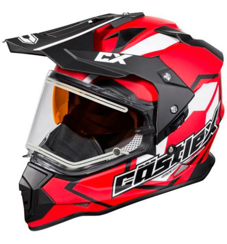 Castle X Mode Dual-Sport SV Team Helmet with Electric Shield, Matte Red Product image