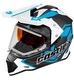 Castle X Mode Dual-Sport SV Team Helmet with Electric Shield, Matte Blue | Castle Xnull