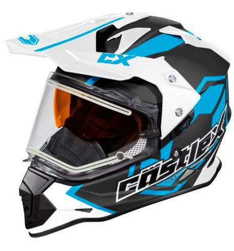 Castle X Mode Dual-Sport SV Team Helmet with Electric Shield, Matte Blue Product image