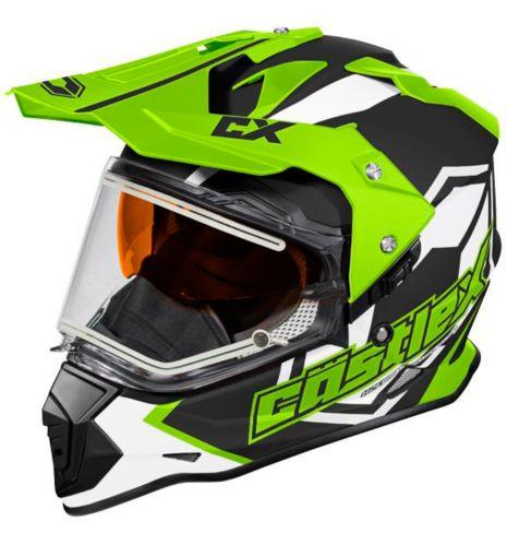 Castle X Mode Dual-Sport SV Team Helmet with Electric Shield, Matte Hi-Vis Product image
