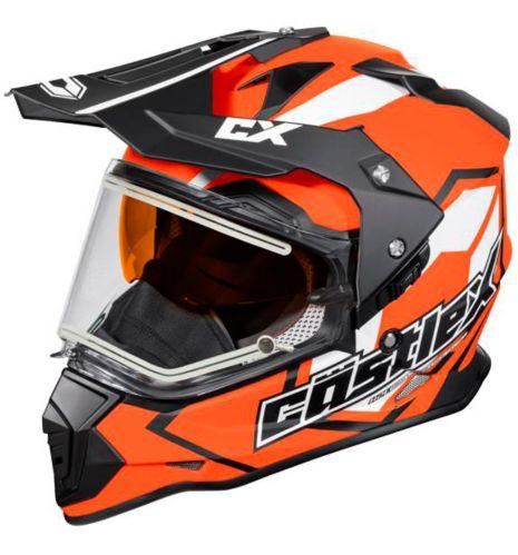 Castle X Mode Dual-Sport SV Team Helmet with Electric Shield, Matte Orange Product image