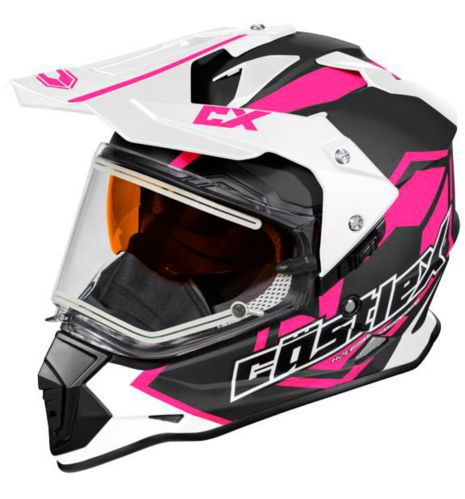 Castle X Mode Dual-Sport SV Team Helmet with Electric Shield, Matte Pink Product image