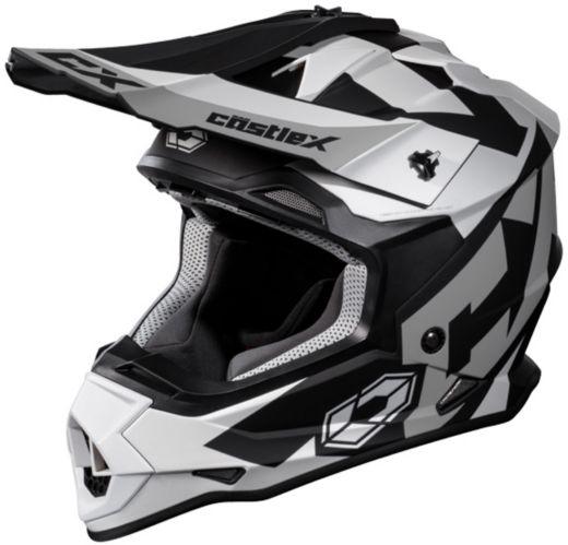 Castle X Mode MX Flow Helmet, Matte White Product image