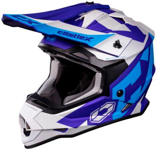 Castle X Mode MX Flow Helmet, Matte Blue/Navy Product image