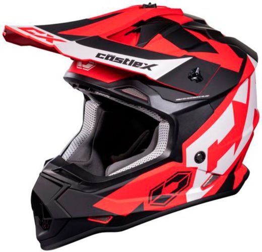 Castle X Mode MX Flow Youth Helmet, Matte Red Product image