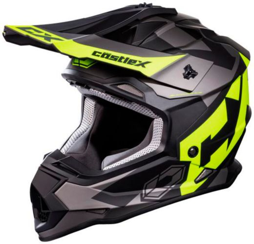 Castle X Mode MX Flow Youth Helmet, Matte Hi-Vis Product image