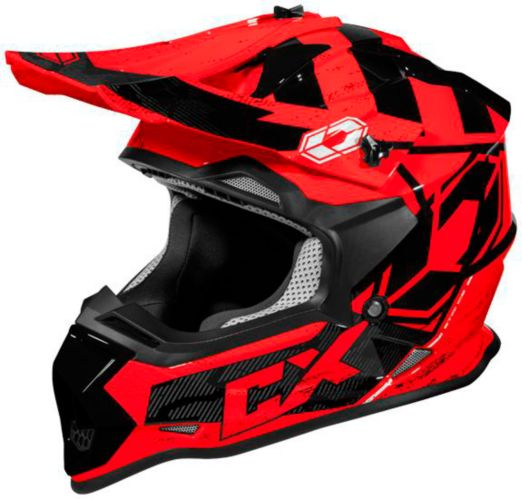 Castle X Mode MX Stance Youth Helmet, Red Product image