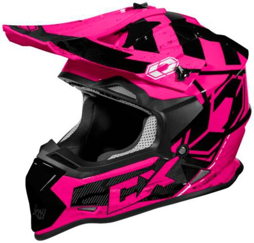 Castle X Mode MX Stance Youth Helmet, Pink Product image