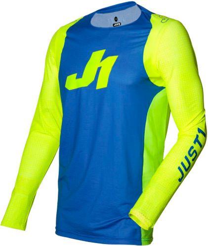 Just1 Flex Motocross Jersey, Blue/Yellow Product image