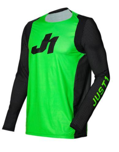 Just1 J-Flex Aria Fluo Motocross Jersey, Green/Black Product image