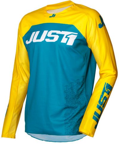 Jersey de motocross Just1 J-Force, bleu et jaune Image de l'article