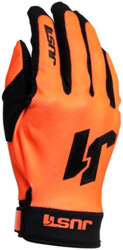 Just1 Flex Motocross Gloves, Orange/Black Product image