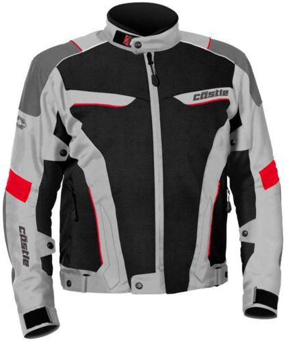 Manteau de motocyclette Castle X Max Air, gris et rouge Image de l'article