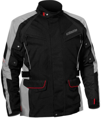 Castle X Mission Air Motorcycle Jacket, Black/Gray/Red Product image